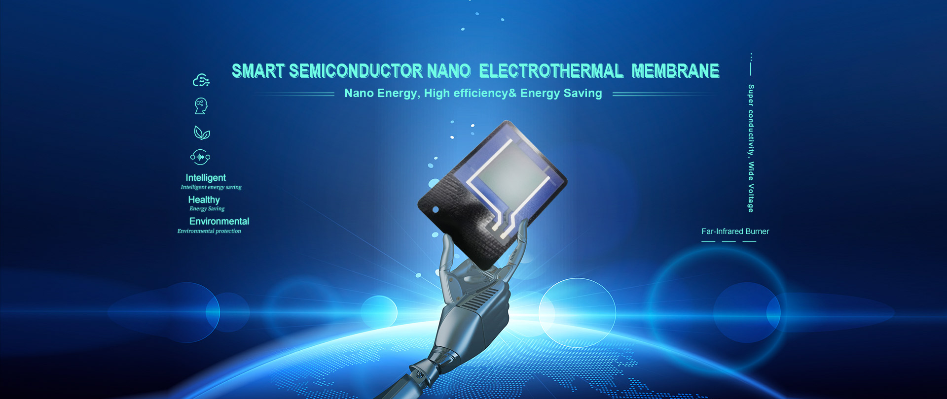 "The core of our technology is "" Smart Semiconductor Nano  electrothermal  membrane"""